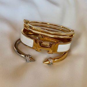 Vita Fede Mini Titan Two Tone Crystal Bracelet